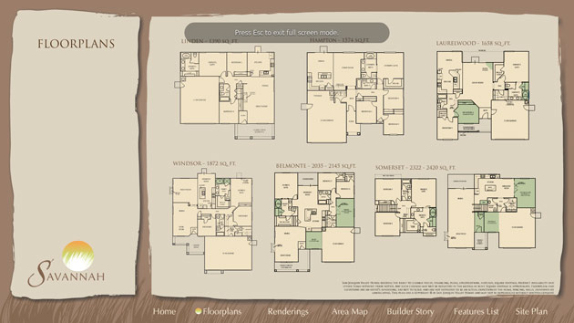 interactive floorplan menu