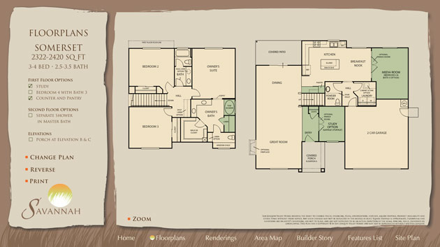 Itour interactive floor plans area maps elevations site for Interactive floor plan map